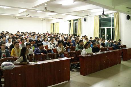 粤嵌走进广东海洋大学寸金学院开展-人工智能生态中的IT技术创新讲座
